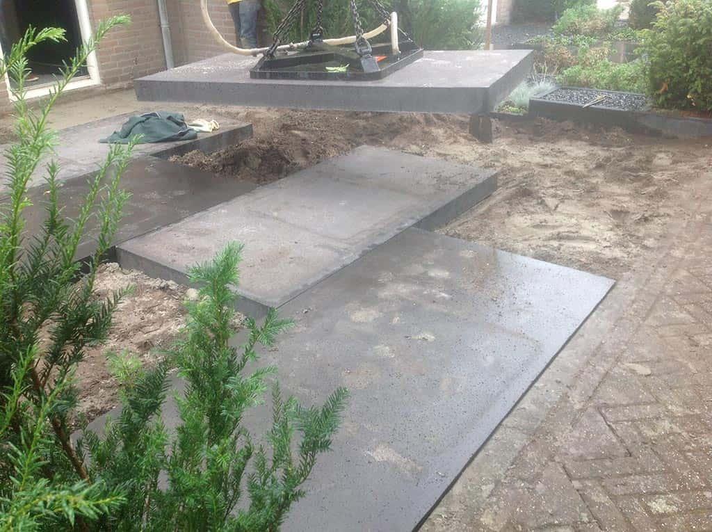 leggen van betontegels strakke tegels schellevis in dongen 200x100x10 ...