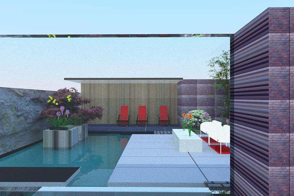 A van spelde hoveniers moderne design tuinontwerpen for Tuin modern design