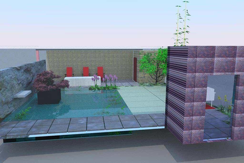 A van spelde hoveniers zwemvijver aanleggen for Tuin 3d ontwerpen