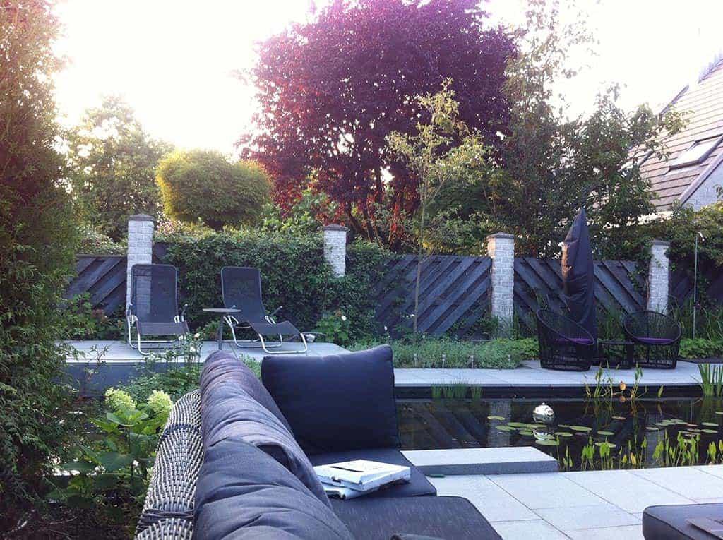 A van spelde hoveniers tuin renoveren in breda regenwulp for Moderne vijvers foto s