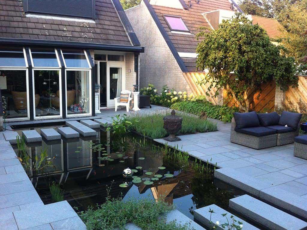 A van spelde hoveniers tuin renoveren in breda regenwulp for Tuin modern design