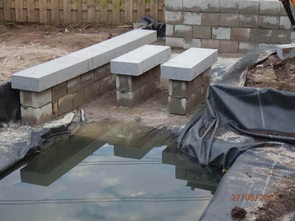 A van spelde hoveniers het aanleggen van een vijver - Hoe een overdekt terras te bouwen ...