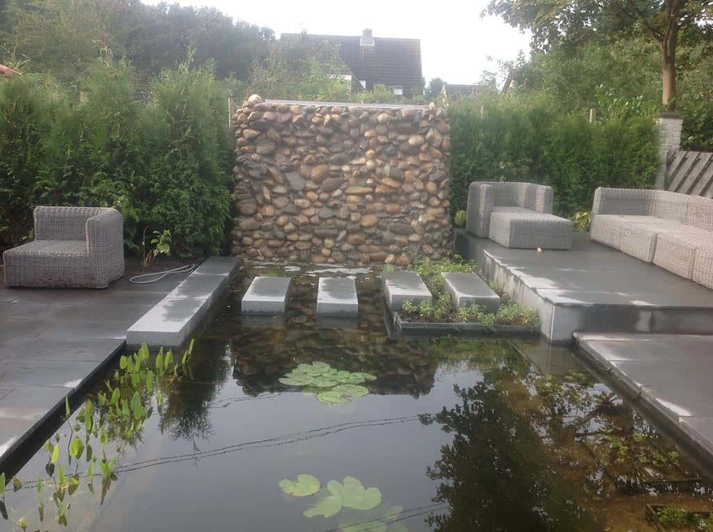 A van spelde hoveniers moderne design tuinontwerpen for Moderne vijvers foto s