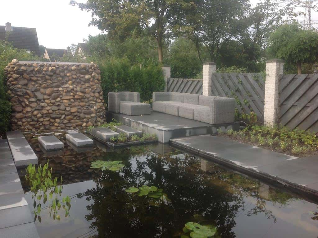 A van spelde hoveniers moderne vijver - Idee terras ...