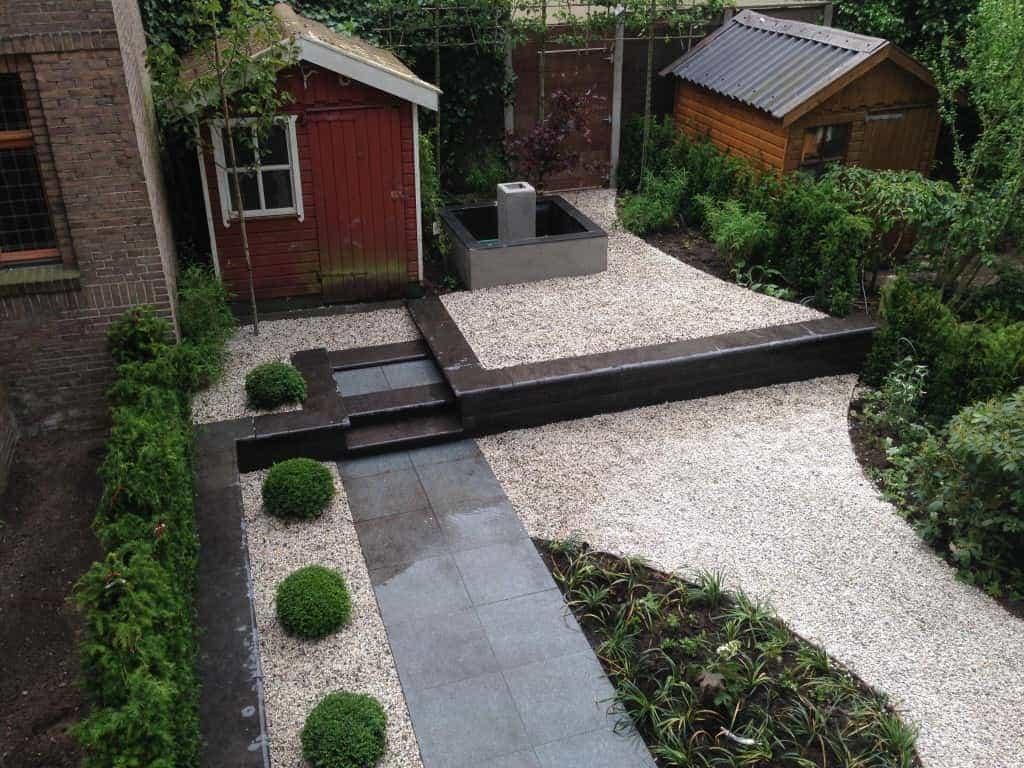 A van spelde hoveniers tuin aanleggen in centrum amsterdam - Geplaveid voor allee tuin ...