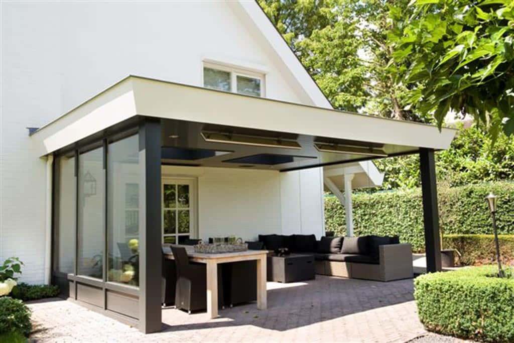 A van spelde hoveniers moderne tuinhuizen overkappingen for Moderne tuin met overkapping