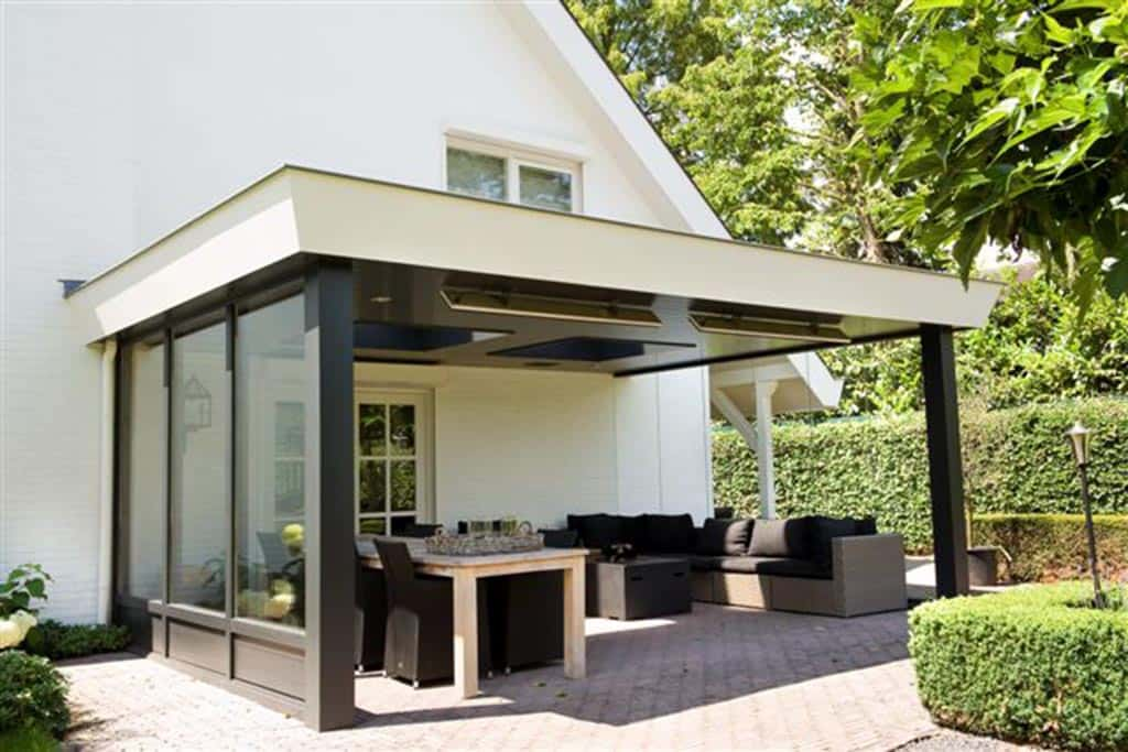 A van spelde hoveniers moderne tuinhuizen overkappingen - Modern stenen huis ...