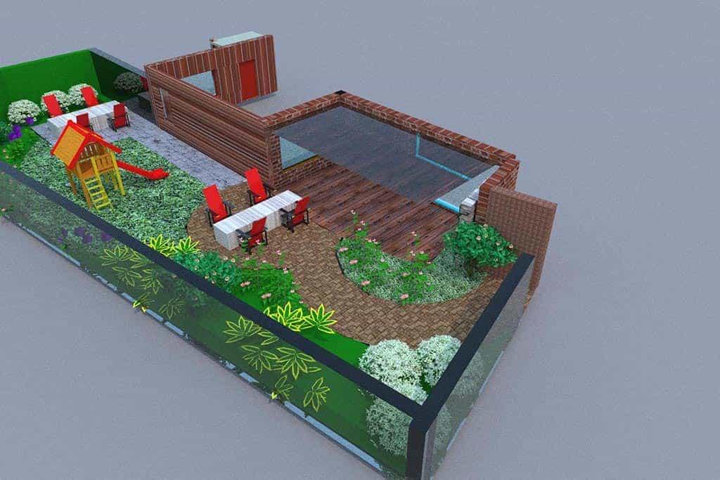 A van spelde hoveniers tuin renoveren in vught for Tuinontwerpen achtertuin