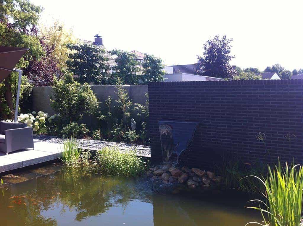 A van spelde hoveniers moderne strakke design tuin bij villa in goirle - Tuin met openlucht design ...