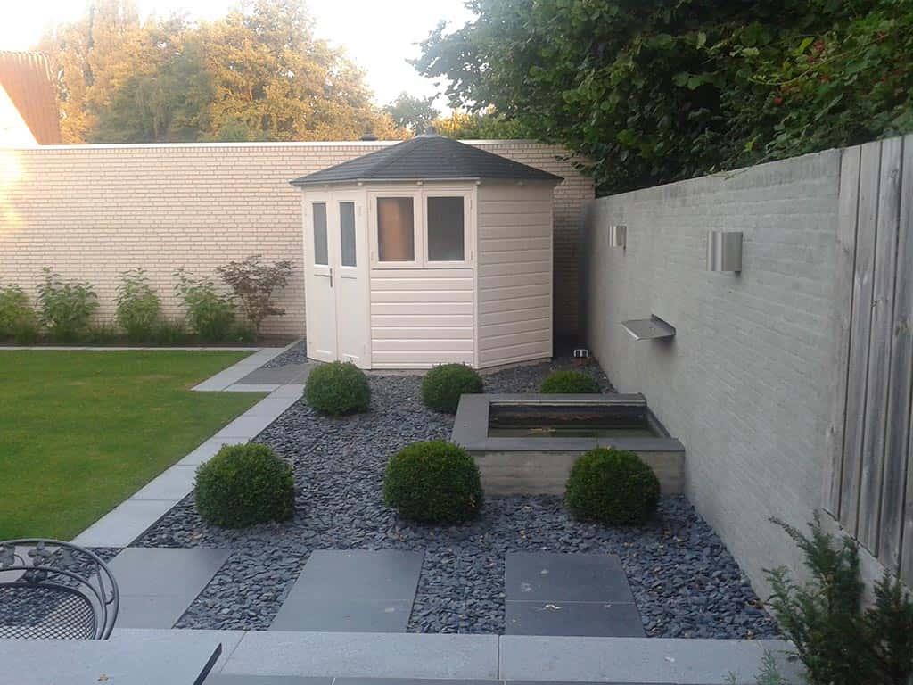 A van spelde hoveniers renovatie complete tuin tuinbestrating met keramische tegels - Ontwerp van de tuin ...
