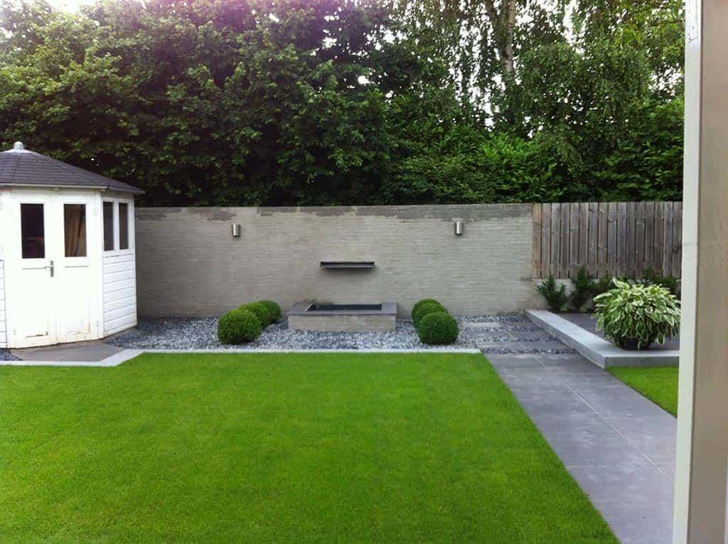 A van spelde hoveniers renovatie complete tuin tuinbestrating met keramische tegels - Tuin decoratie met kiezelstenen ...