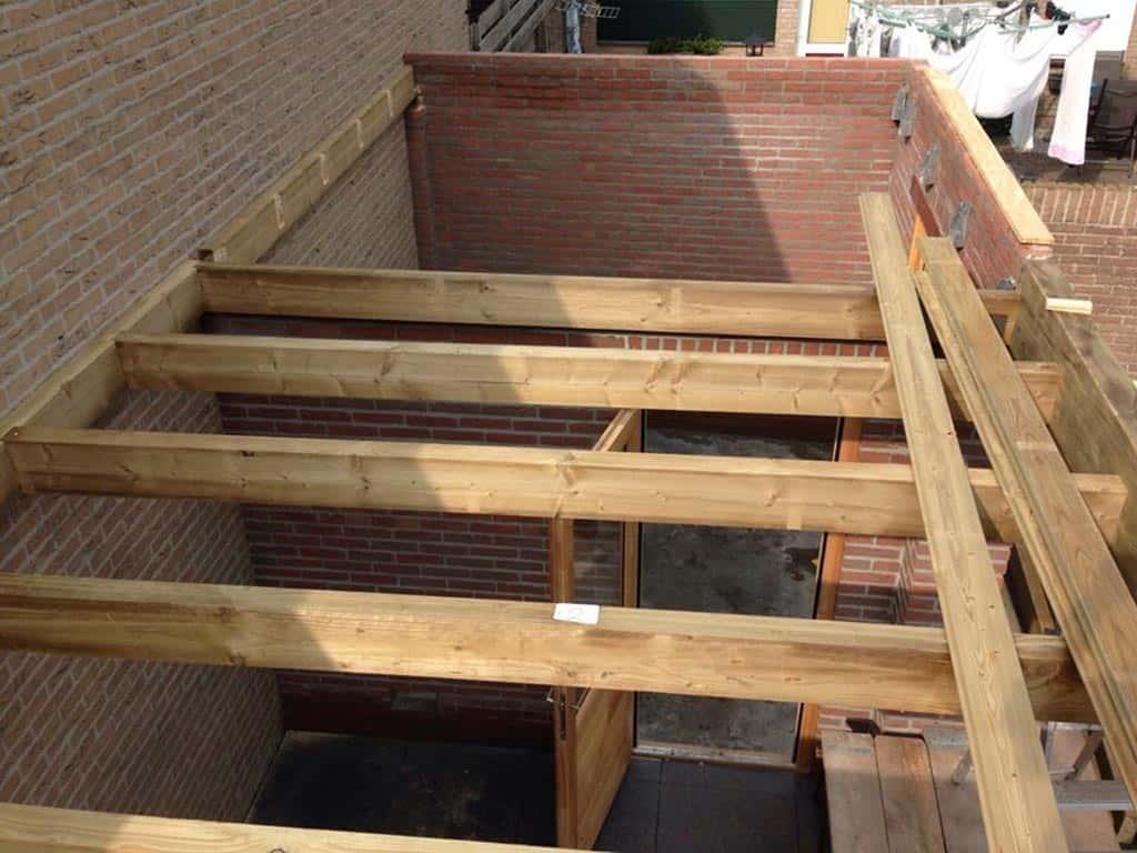 A van spelde hoveniers verbouw renovatie aanbouw oisterwijk - Veranda met muur ...