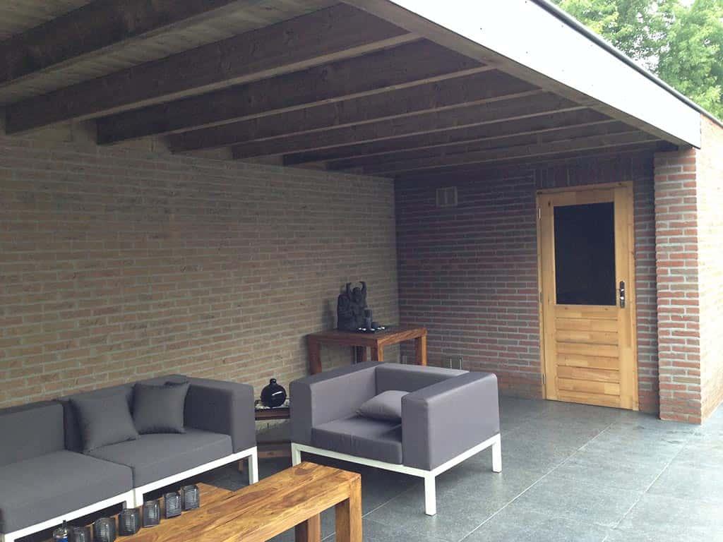 A van spelde hoveniers stenen tuinoverkappingen for Foto op hout maken eigen huis en tuin