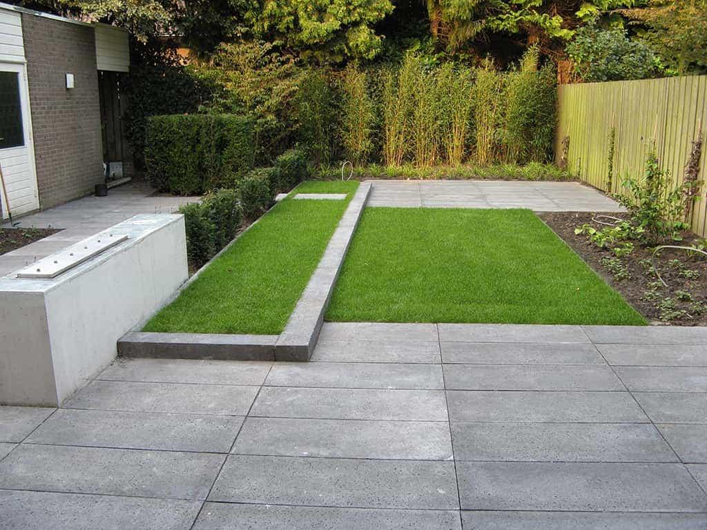 A van spelde hoveniers tuinontwerp tuin in oisterwijk met schellevis tegels - Hoe amenager tuin ...