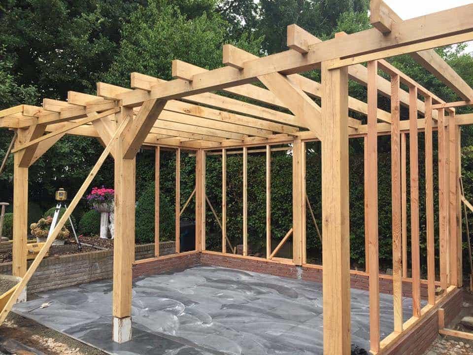 Tuin Overkapping Maken : A van spelde hoveniers maatwerk tuinoverkapping douglas hout