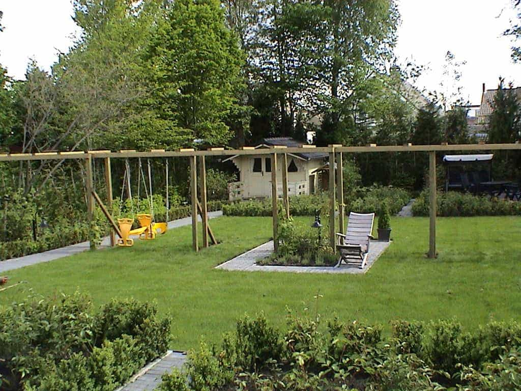 A van spelde hoveniers tuinaanleg in oisterwijk - Dakbedekking voor pergola ...
