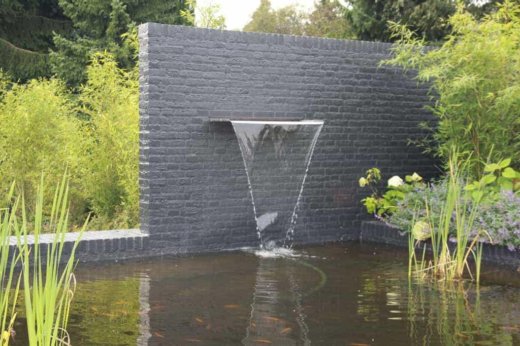 Stenen Voor Muur In Tuin : Moderne Tuin Strakke