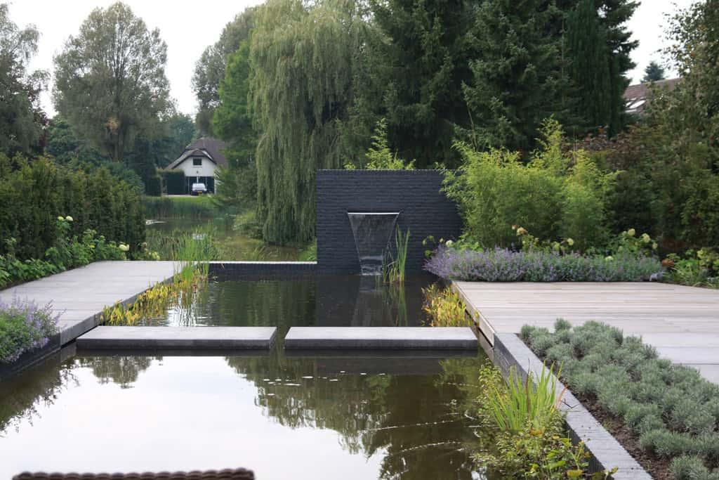A van spelde hoveniers moderne strakke tuin aanleggen tilburg for Vijverrand maken