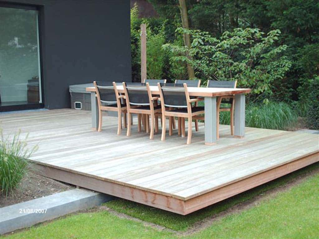 A van spelde hoveniers voorbeelden schutting en vlonders luxe tuinhuizen for Terras design