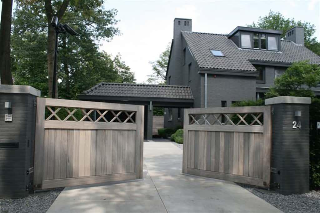 A van spelde hoveniers tuin poorten for Oprit ontwerp