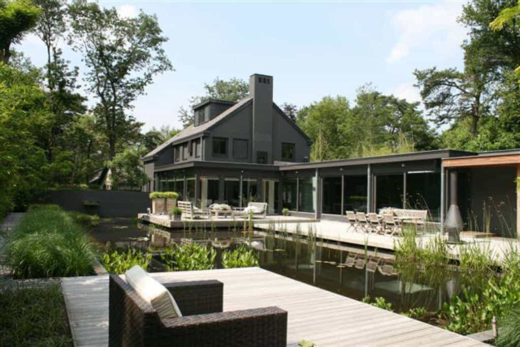 A van spelde hoveniers tuin aanleggen for Moderne waterpartijen tuin