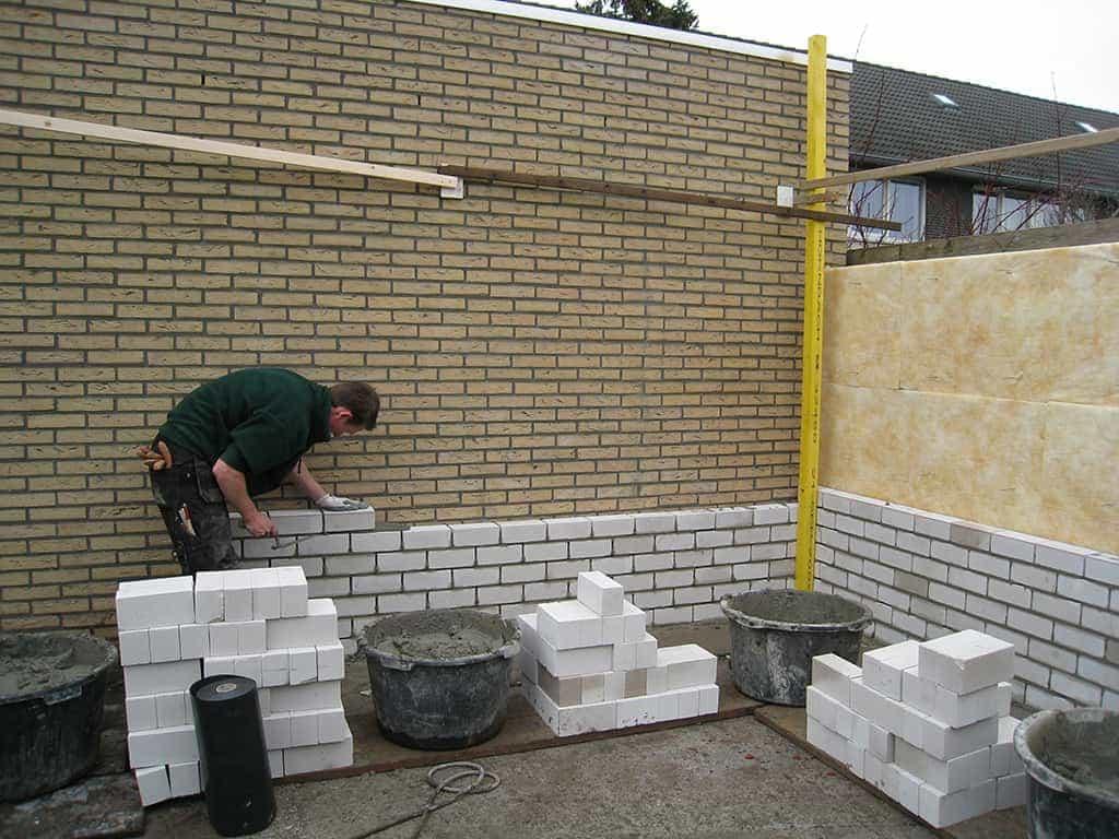 A van spelde hoveniers verbouw renovatie aanbouw neerkant - Modern muur steen ...