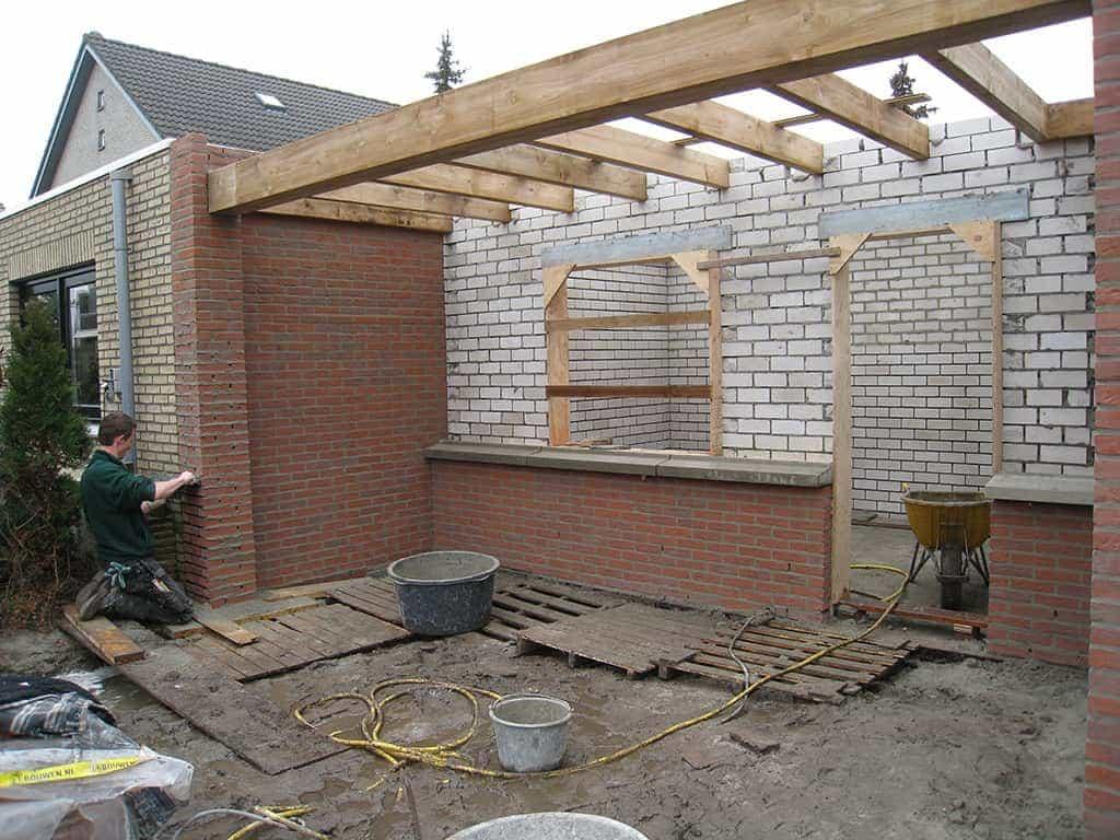 A van spelde hoveniers tuin met tuinschuur in de reeshof - Steen en constructie ...