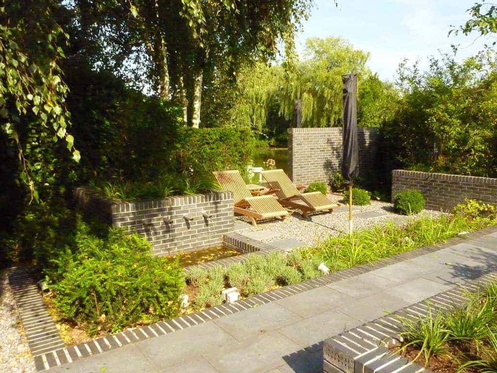 A van spelde hoveniers bestraten achtertuin in goirle - Landscaping modern huis ...