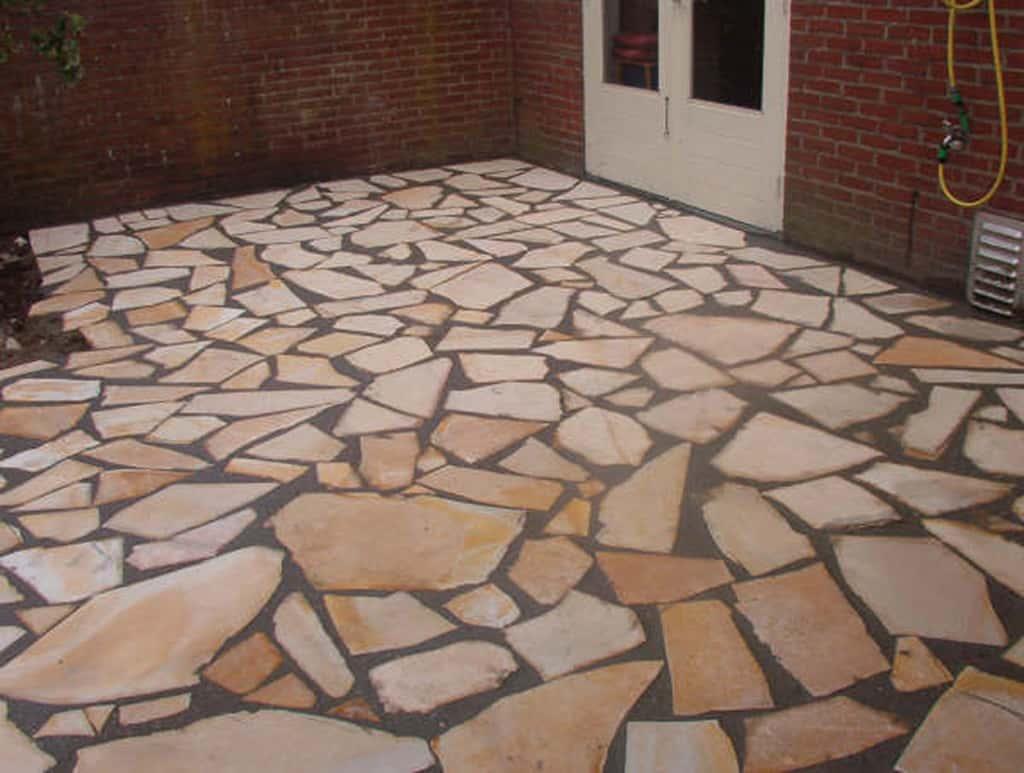 Natuursteen Tegels Tuin : Keramische tegels achtertuin renoveren tilburg