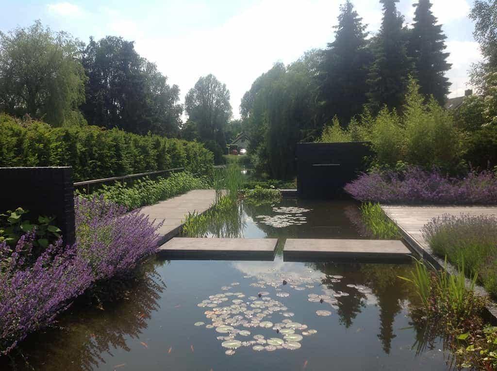 A van spelde hoveniers moderne strakke tuin aanleggen tilburg for Een vijver