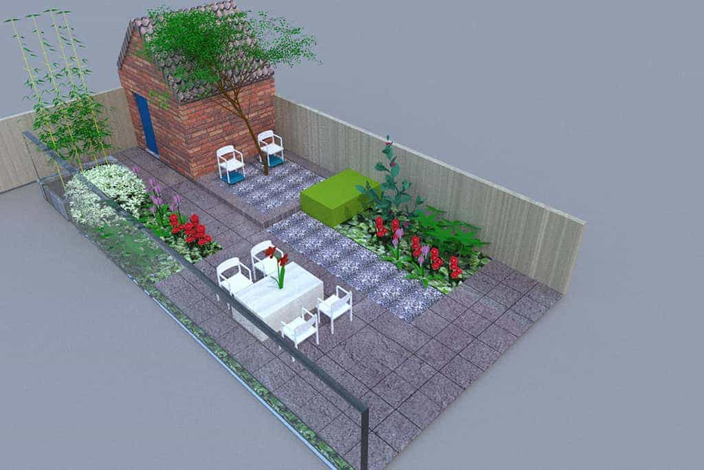 A van spelde hoveniers tuinontwerp for Kleine tuinontwerpen